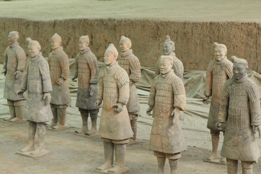Het beroemde terracottaleger in Xi'an