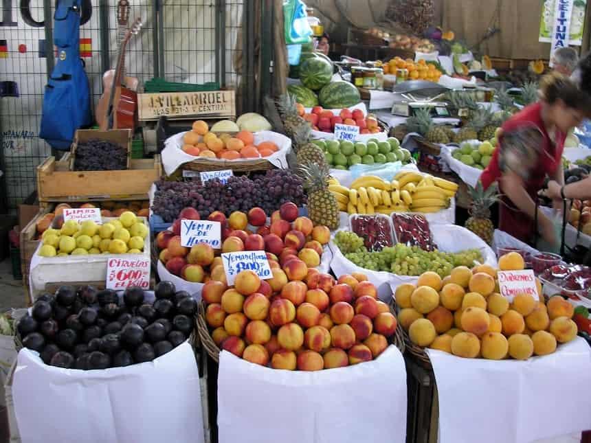 Fruitmarkt in Chili