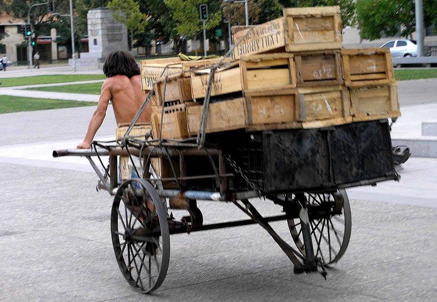 Transport van goederen in Santiago