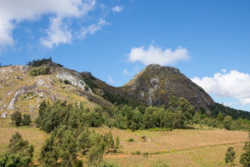 Het landschap in Malawi is behoorlijk afwisselend