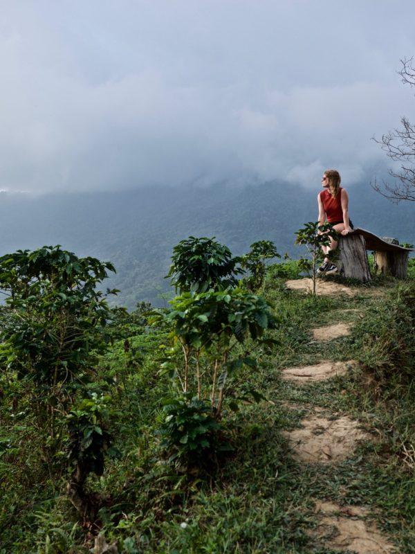 Minca in de Sierra Nevada van Colombia, vlakbij Santa Marta