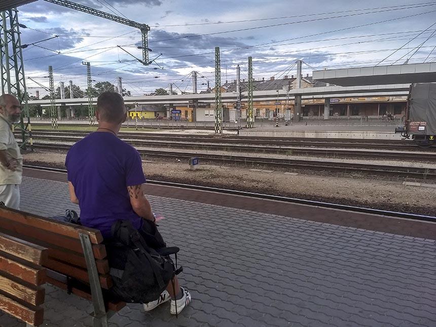 treinstation Trnava Slowakije Interrail