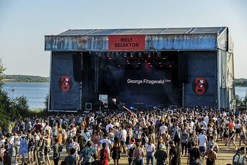 Selektor stage tijdens Melt festival in Duitsland