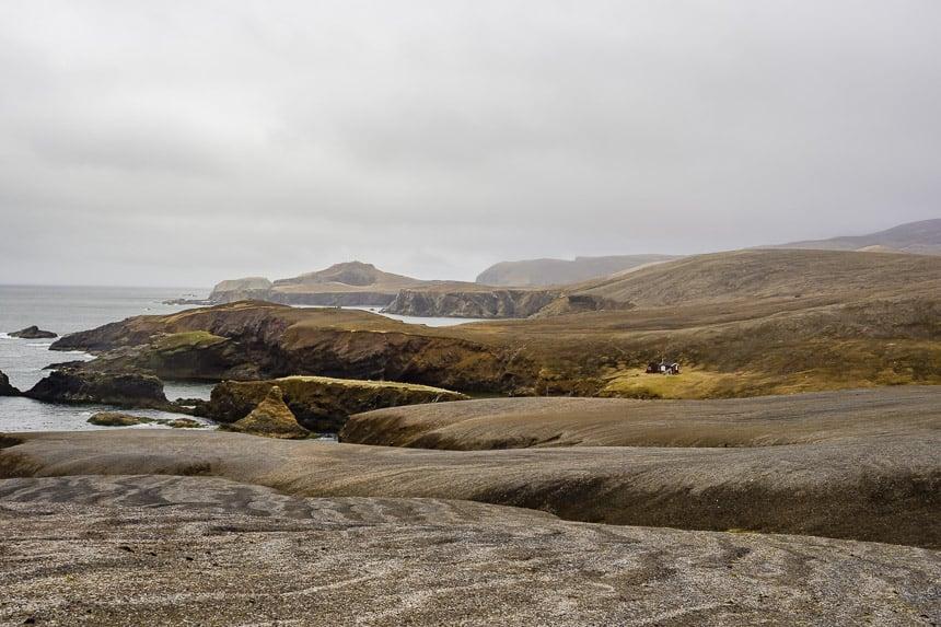 Een desolaat landschap.