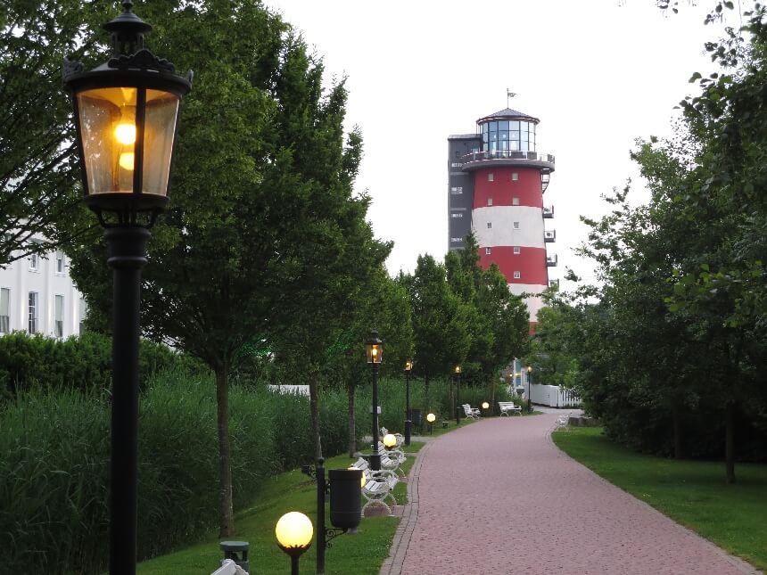 De vuurtoren van hotel Bell Rock in Europa-Park