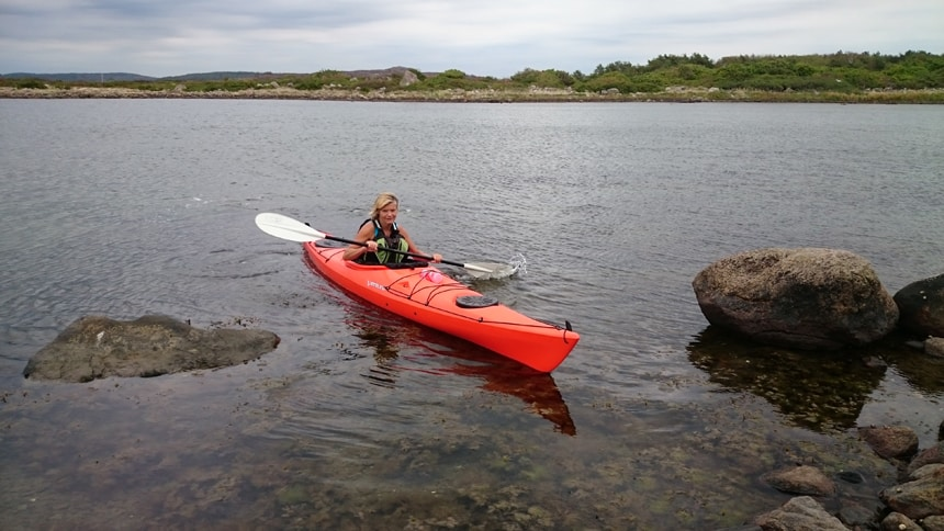 Zee-kajakken in Zweden