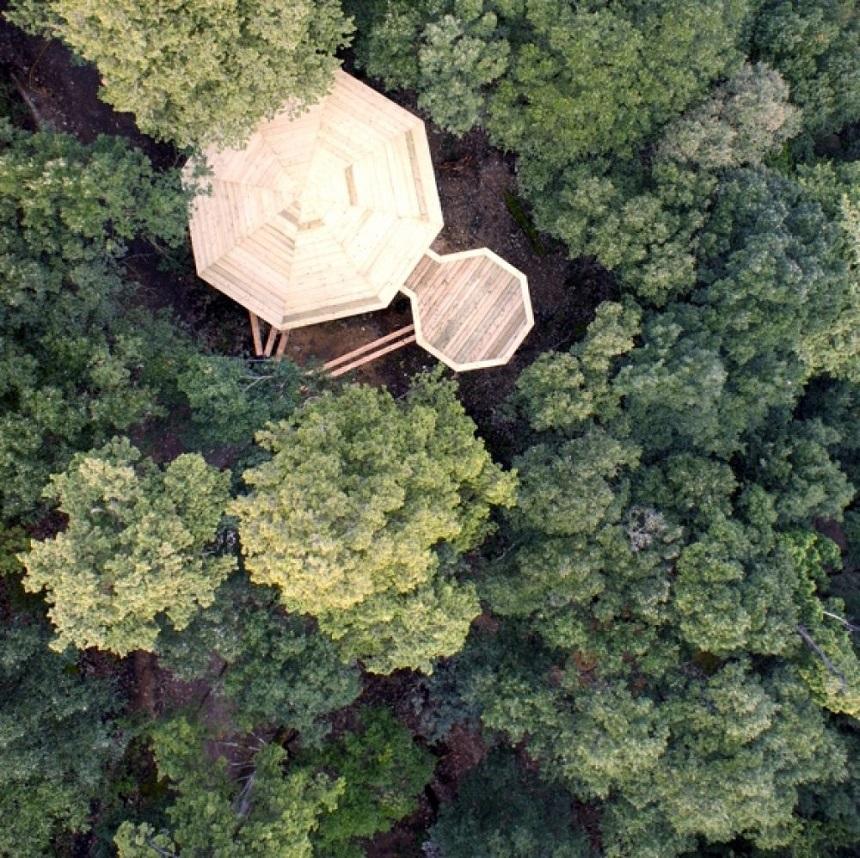 Les Cabanes dans les bois in Frankrijk