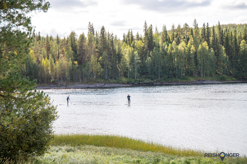 stand up paddling in Zweeds Lapland