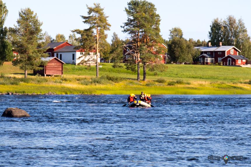 Een rapid op de rivier Vindelälven