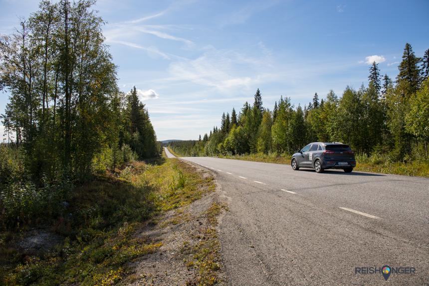Verlaten wegen dwars door de bossen; dat is Zweeds Lapland