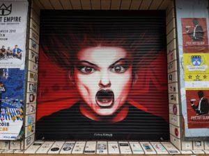 streetart Keulen rolluik