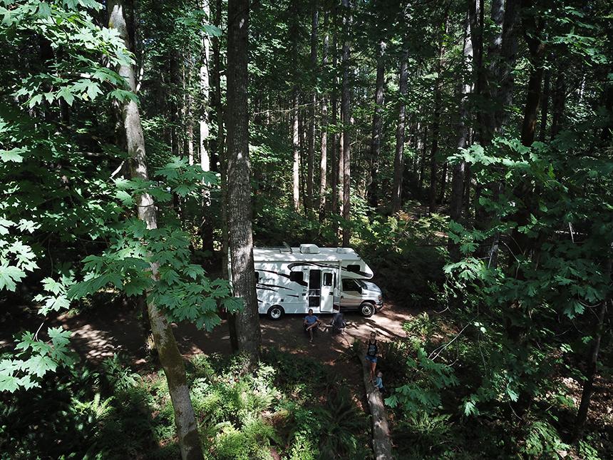 Camper van Fraserway in Canada