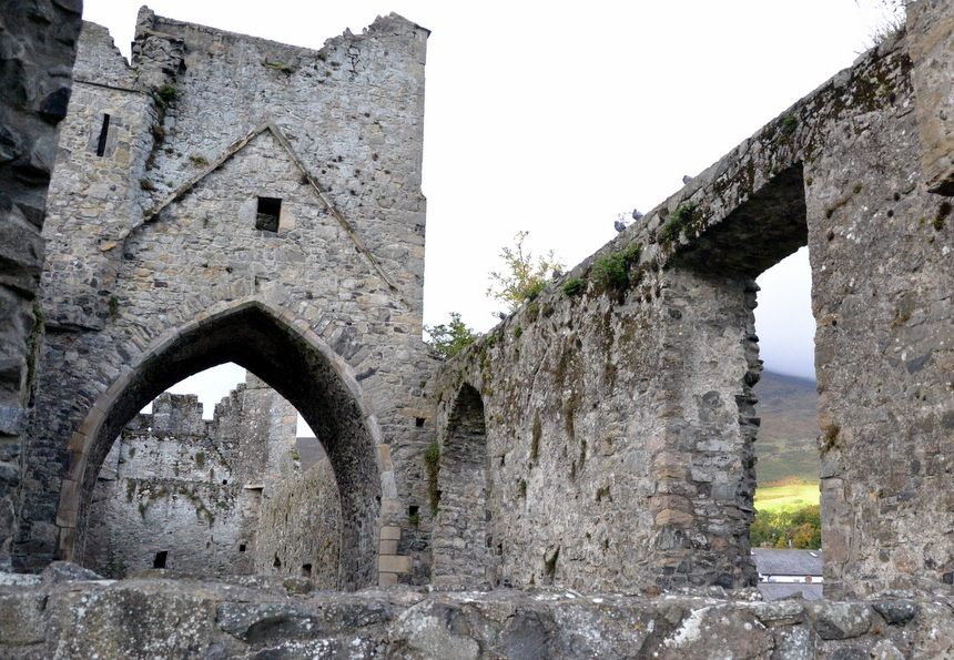 Oude abdijruïnes in Carlingford