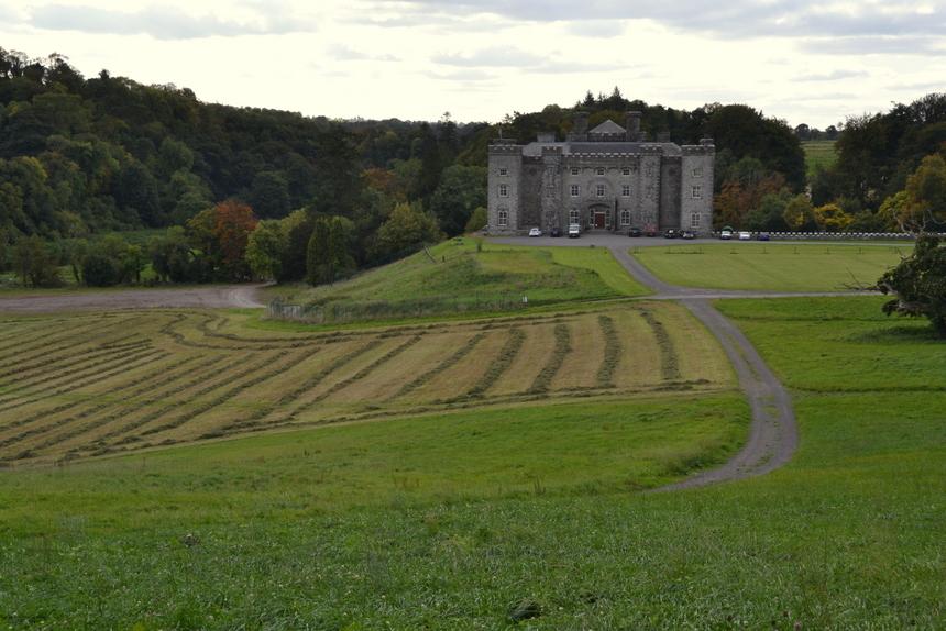 Slane Castle met het amfitheater