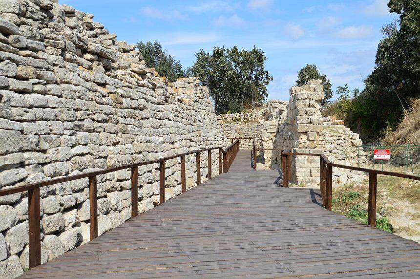 De ruïnes van Troje