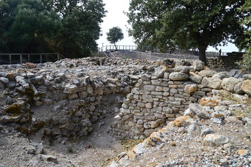 De overblijfselen van het legendarische Troje