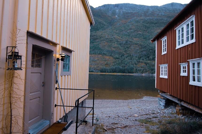 De schitterend onderhouden huisjes van Mosjøen