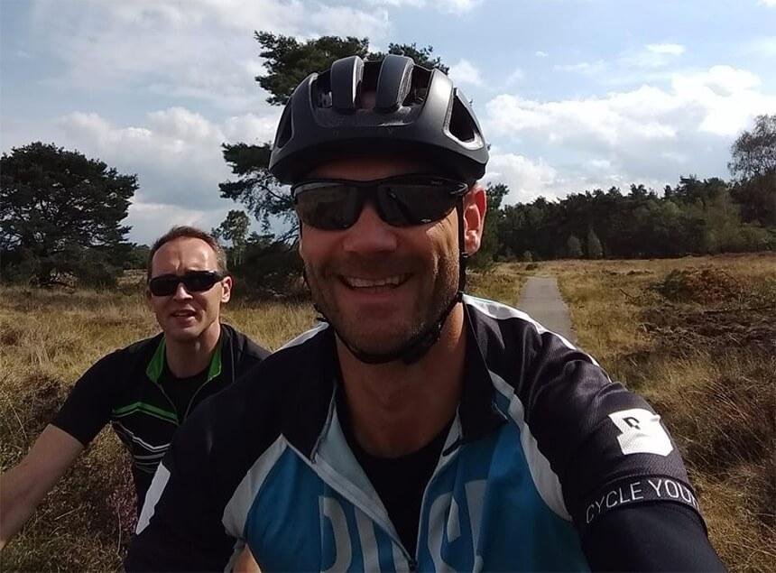 Mountainbiken op de Veluwezoom