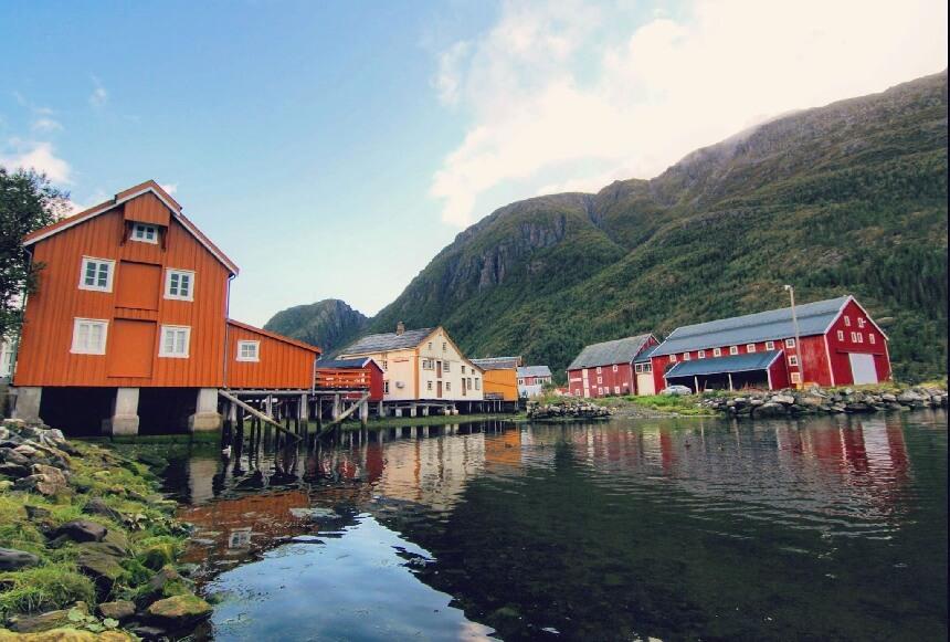 De sprookjesachtige huizen van Mosjøen.