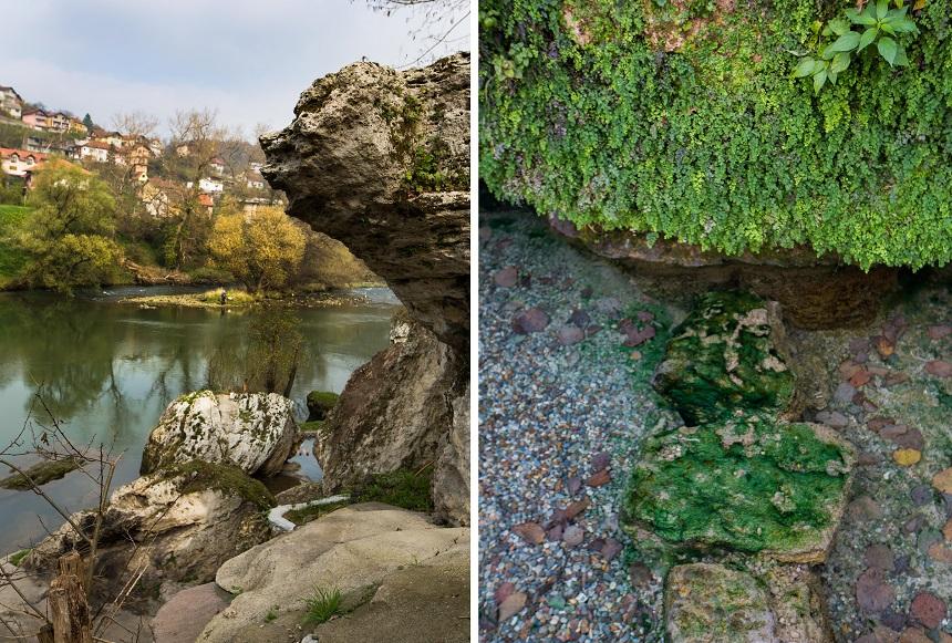 Natuurlijk warmwaterbad aan de Vrbas rivier