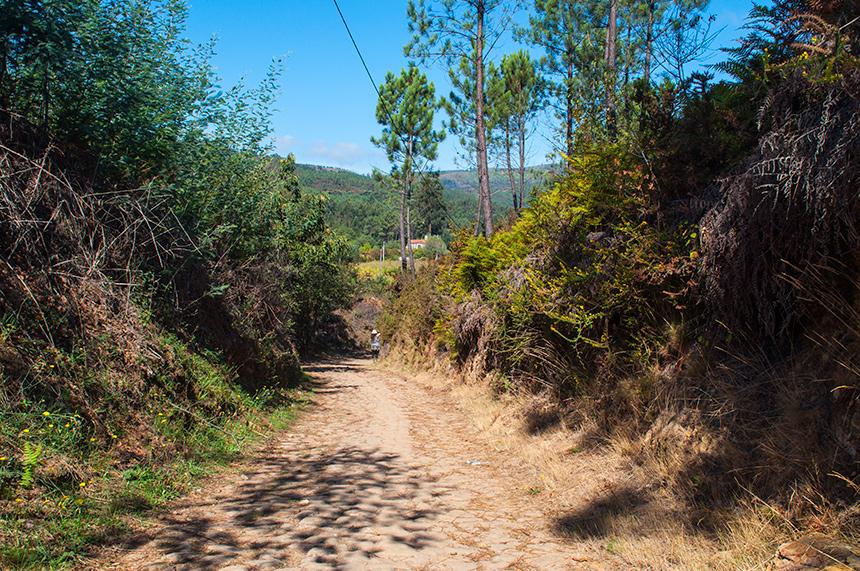 Wandelpad in Peneda-Gerês in Portugal
