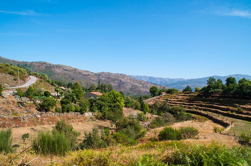 Het landschap van Peneda-Gerês in Portugal