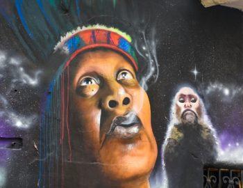 Bogota: graffiti kunstenaars tegen Justin Bieber