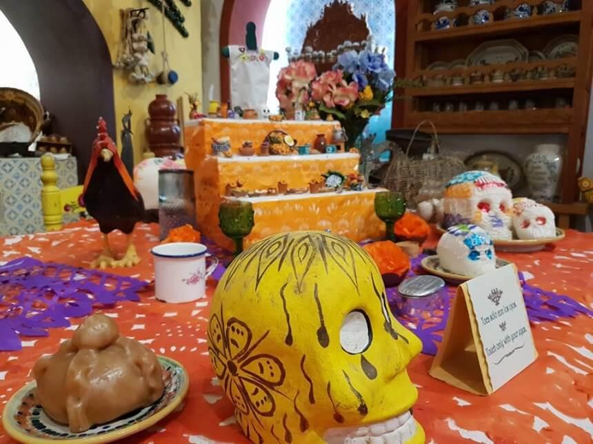 Día de los Muertos in de hacienda in Xcaret