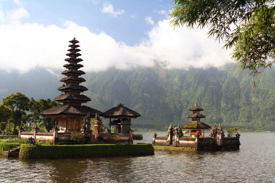 Ulun Danau tempel op Bali, Indonesië