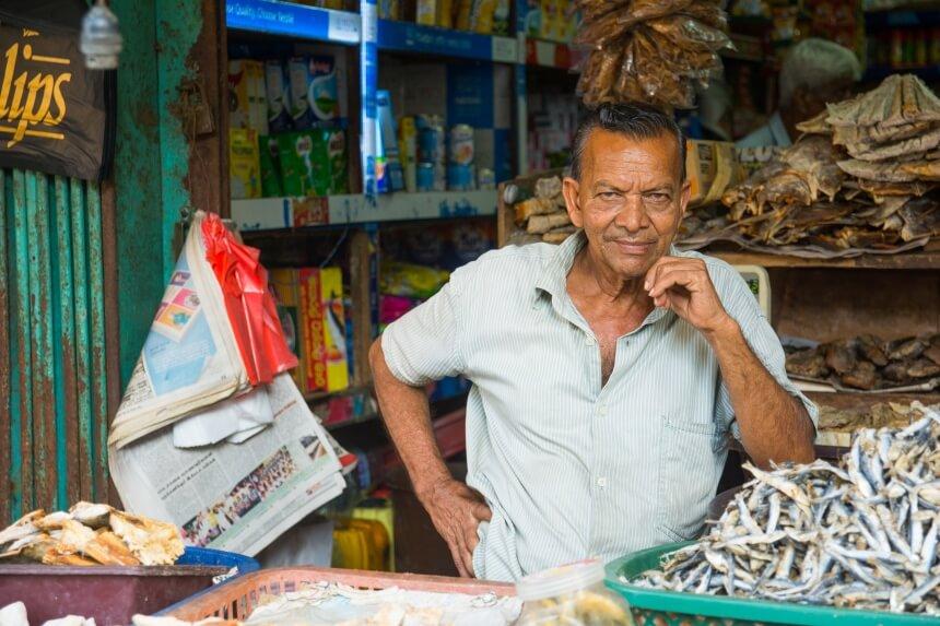 Marktkoopman in Negombo