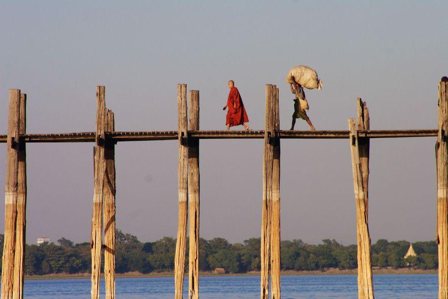 U bridge in Myanmar