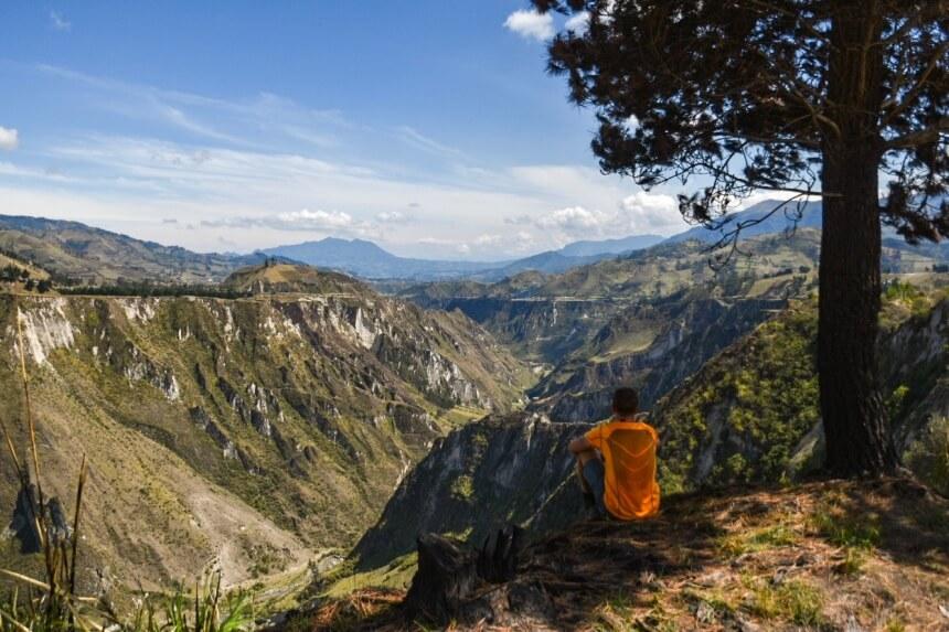 Quilotoa Loop uitzicht onderweg