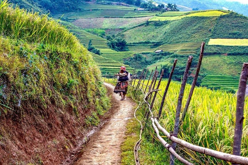 Gekleurd landschap in Vietnam