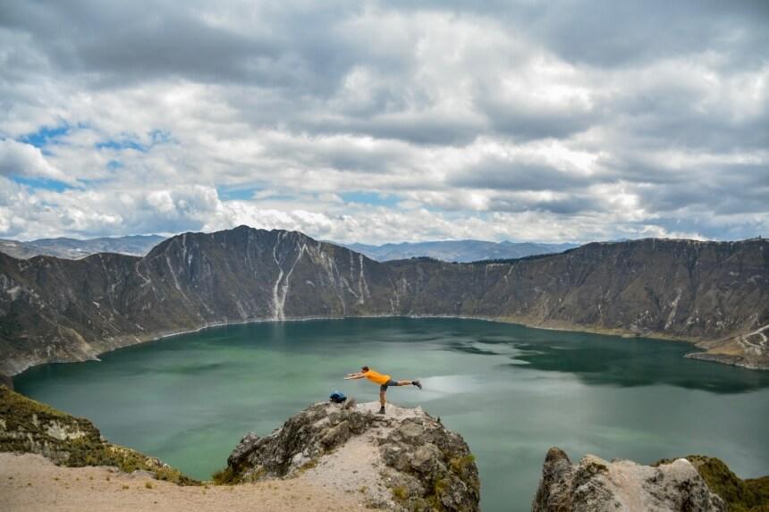 De vulkaankrater van Quilotoa