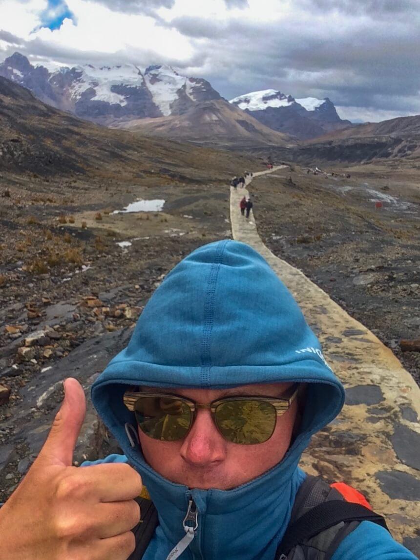 Wandelen in Huarez in Peru