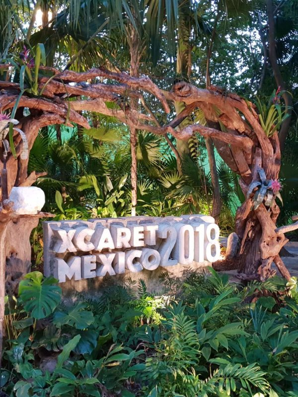 Xcaret entree in Cancun, Mexico
