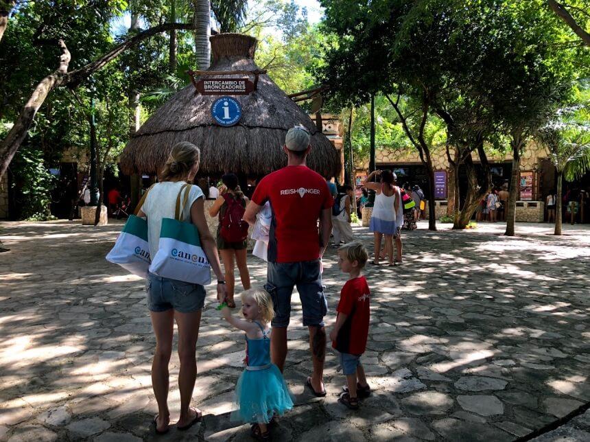 Entree van Xcaret in Mexico