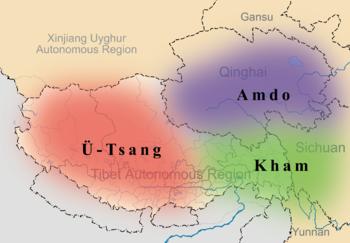 Historische Tibetaanse provincies. -Wikimedia-