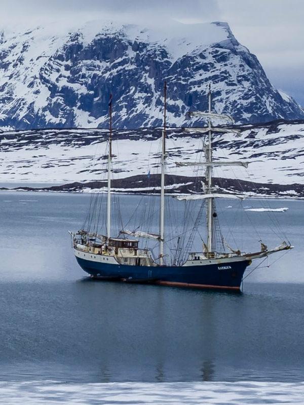 De Antiqua bij Spitsbergen