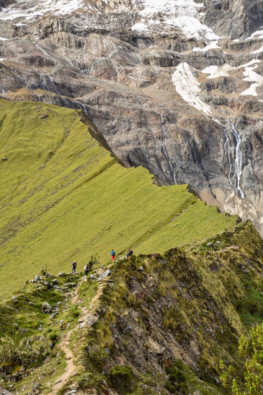 Bergketen tijdens de Salkantay Trail in Peru