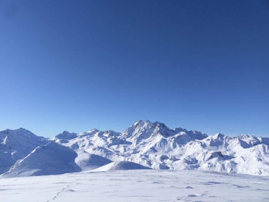 De hoogste piek van Ischgl in Tirol