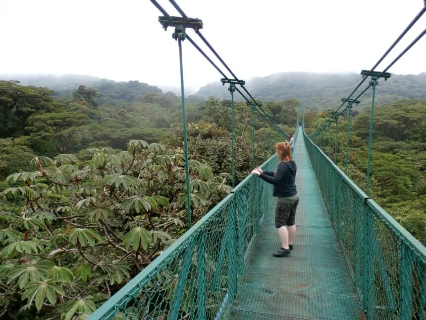 Boomtoppenwandeling in Monteverde, Costa Rica