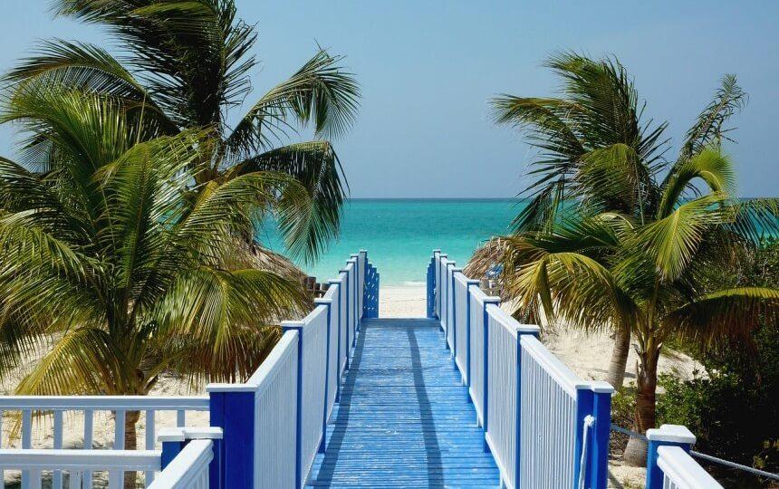 Palmstrand op Cuba
