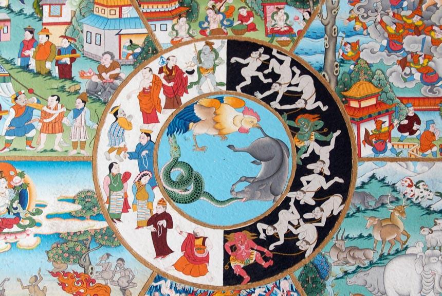 Het wiel van het leven in het Boeddhisme