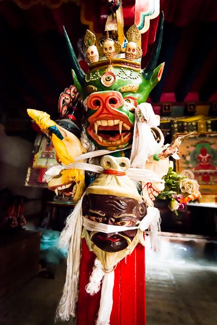 Beeld van demonen in Tibet