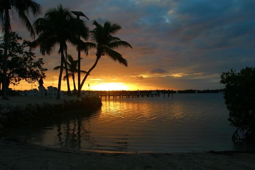 De zonsondergang op de Florida Keys staat erom bekend heel mooi te zijn
