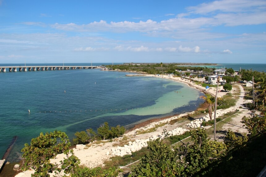 Bahia Honda is de mooiste plek om te zwemmen of snorkelen langs de Overseas Highway