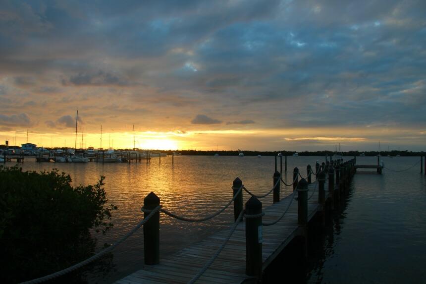 De Florida Keys staan bekend om de mooie zonsondergangen