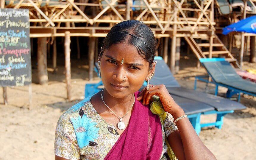 Meisje in Goa in India