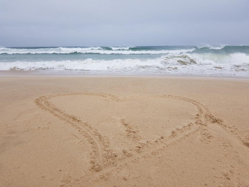 Strand bij St. Francis Bay in Zuid-Afrika